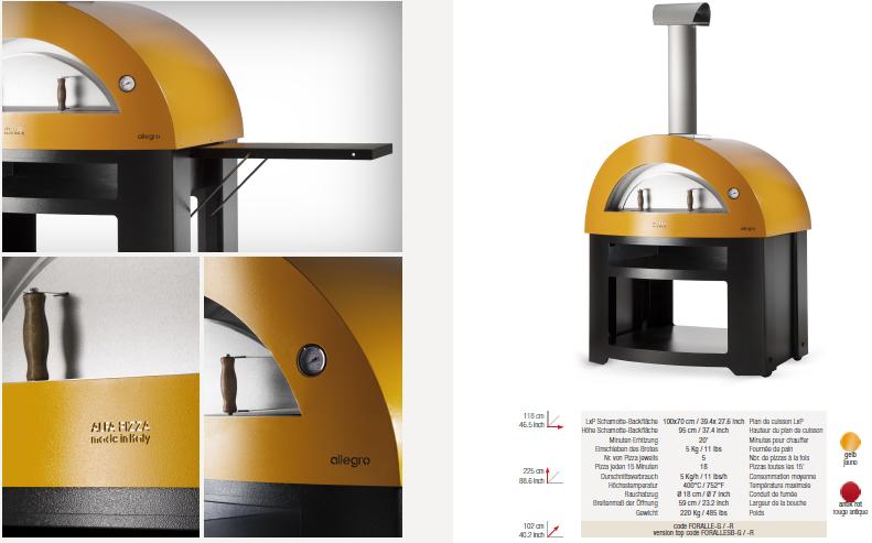 backofen allegro feuer und stein s rl. Black Bedroom Furniture Sets. Home Design Ideas